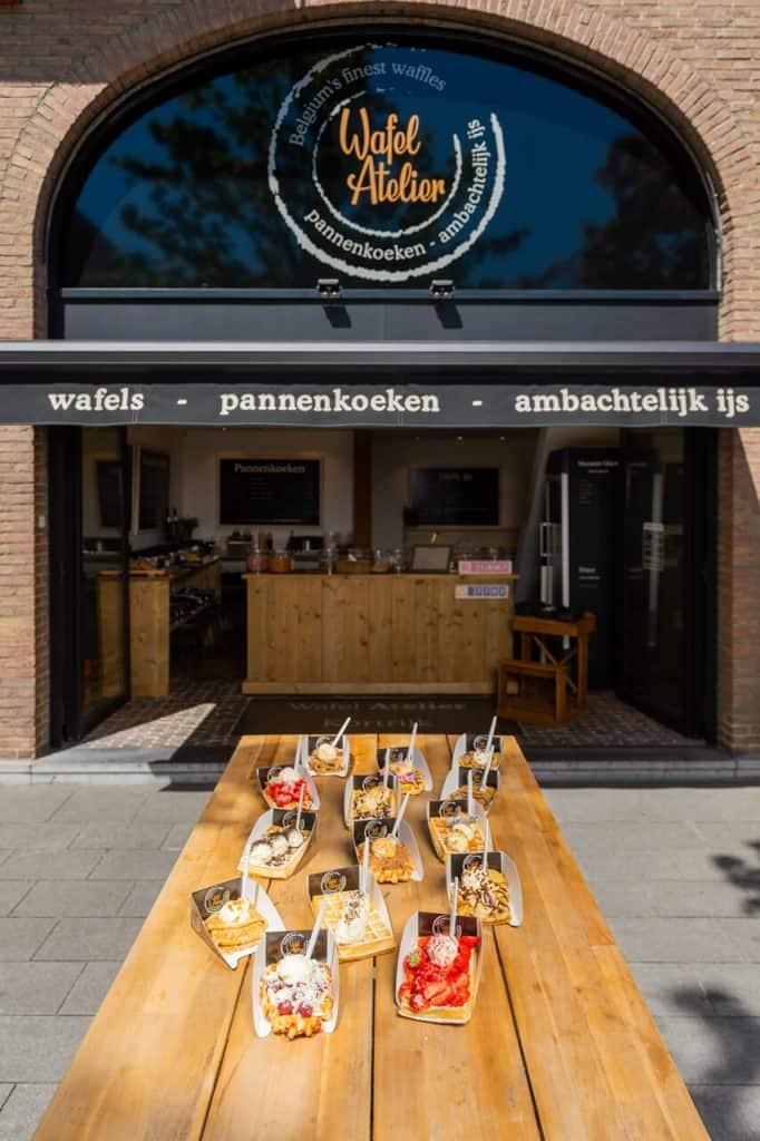 Onze waffletruck van het Wafel Atelier op jouw feest